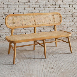 Seabrook Rattan Bench Seat 130x53x79cm Natural