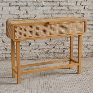 Seabrook Rattan Console Table 100x30x75cm Natural