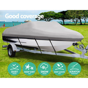 14 - 16 foot Waterproof Boat Cover - Grey