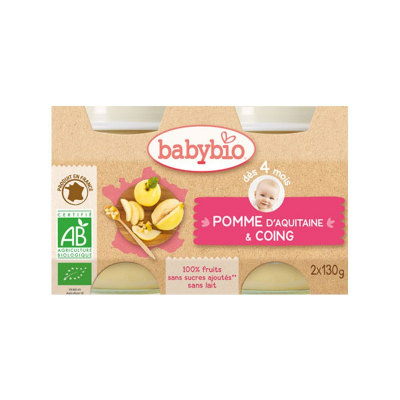Duo Babybio Pomme Coing