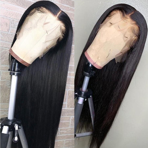 10-26 Inches Silky Peruvian Straight Lace Front Hair Wigs Virgin Expressions