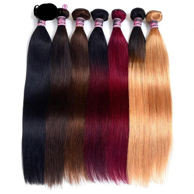 "30"" Straight Hair Bundle Weave Extensions Virgin Expressions"