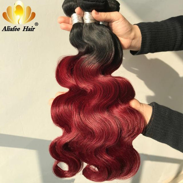 "8""-30"" Inches Ombre Body Wave Hair Bundle Extensions Virgin Expressions"