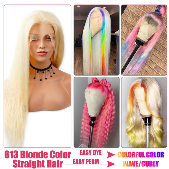 Blond Girl Lace Front Wig Brazilian With Plucked Baby Hair Virgin Expressions