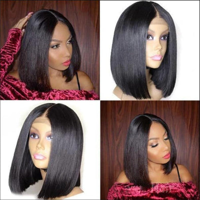Bob Straight Hair Bundles With Closure Virgin Expressions