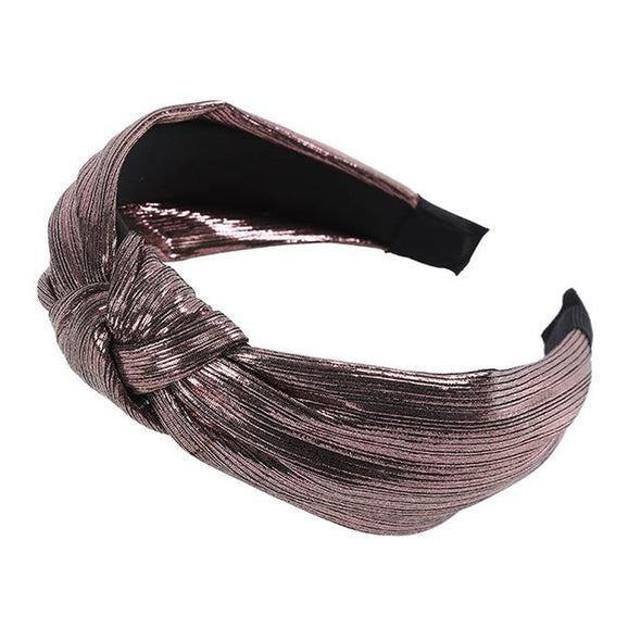 Elegant Gold Line Knotting Cotton Hairband Virgin Expressions