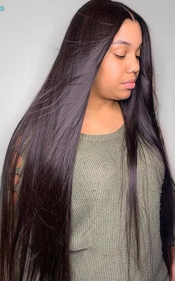 "Glueless Pre Plucked 28-30"" 360 Frontal Wig Virgin Expressions"