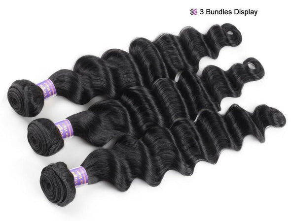 Loose Deep Wave Peruvian Hair Bundle Extensions Virgin Expressions