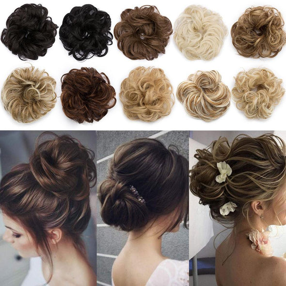 Messy bun Elastic band with hair Virgin Expressions