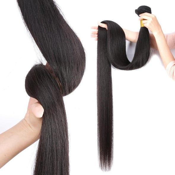 Natural Color Straight Weave Bundles Hair Extensions Virgin Expressions