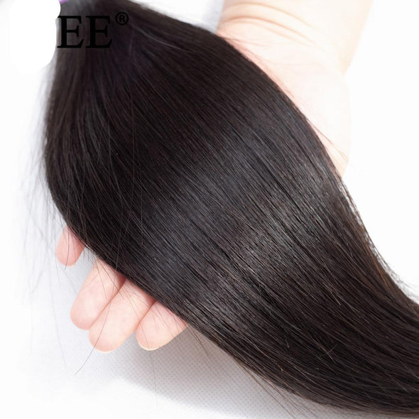 Nature Color Thick Straight Hair Bundle Extensions Virgin Expressions