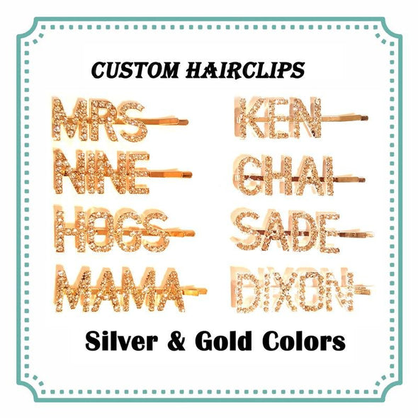 Personalized Name Word Hairclips Virgin Expressions