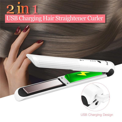 Rechargeable 2 in 1 Hair Straightener & Curler Virgin Expressions