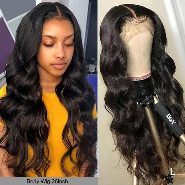 Sexy Black Body Wave Closure Wig Virgin Expressions