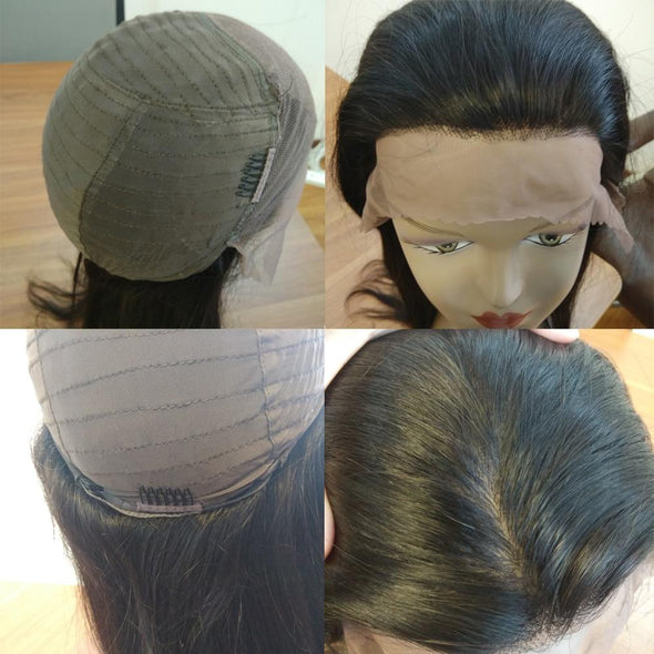 Silk Base Straight Hair Lace Front Hair Wigs Virgin Expressions
