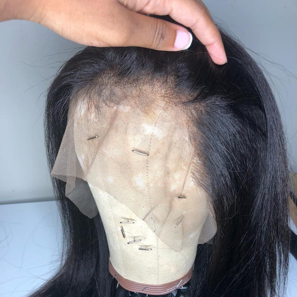 "Transparent 13x6"" Lace Frontal Straight Natural Hair Virgin Expressions"