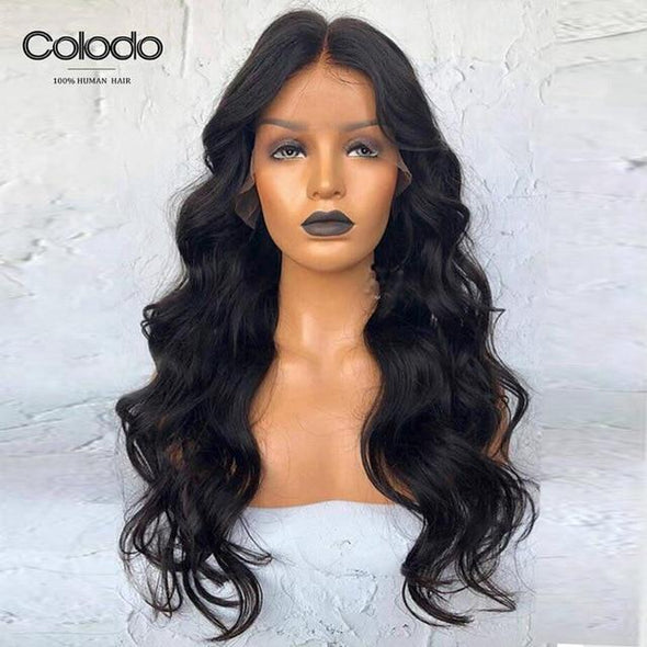 Wavy Remy Hair Lace Front Wig Virgin Expressions