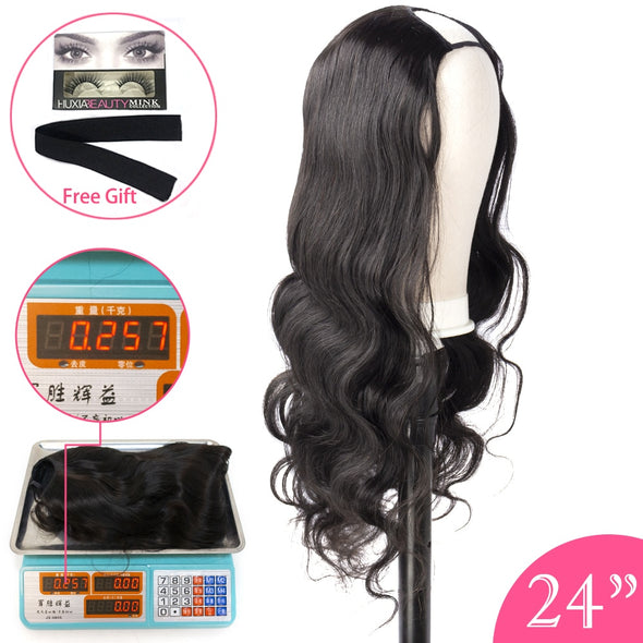 U Part Wig Human Hair Wig Body Wave
