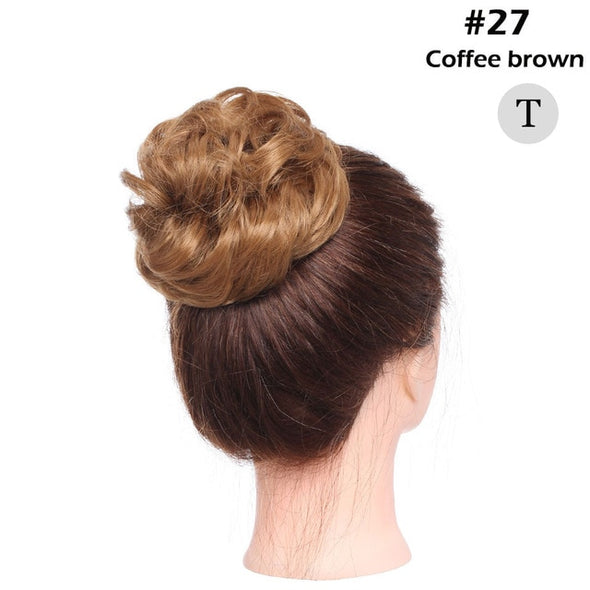 Messy bun Elastic band with hair