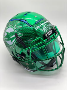Personalized Hydro Helmet - Green Carbon Fiber