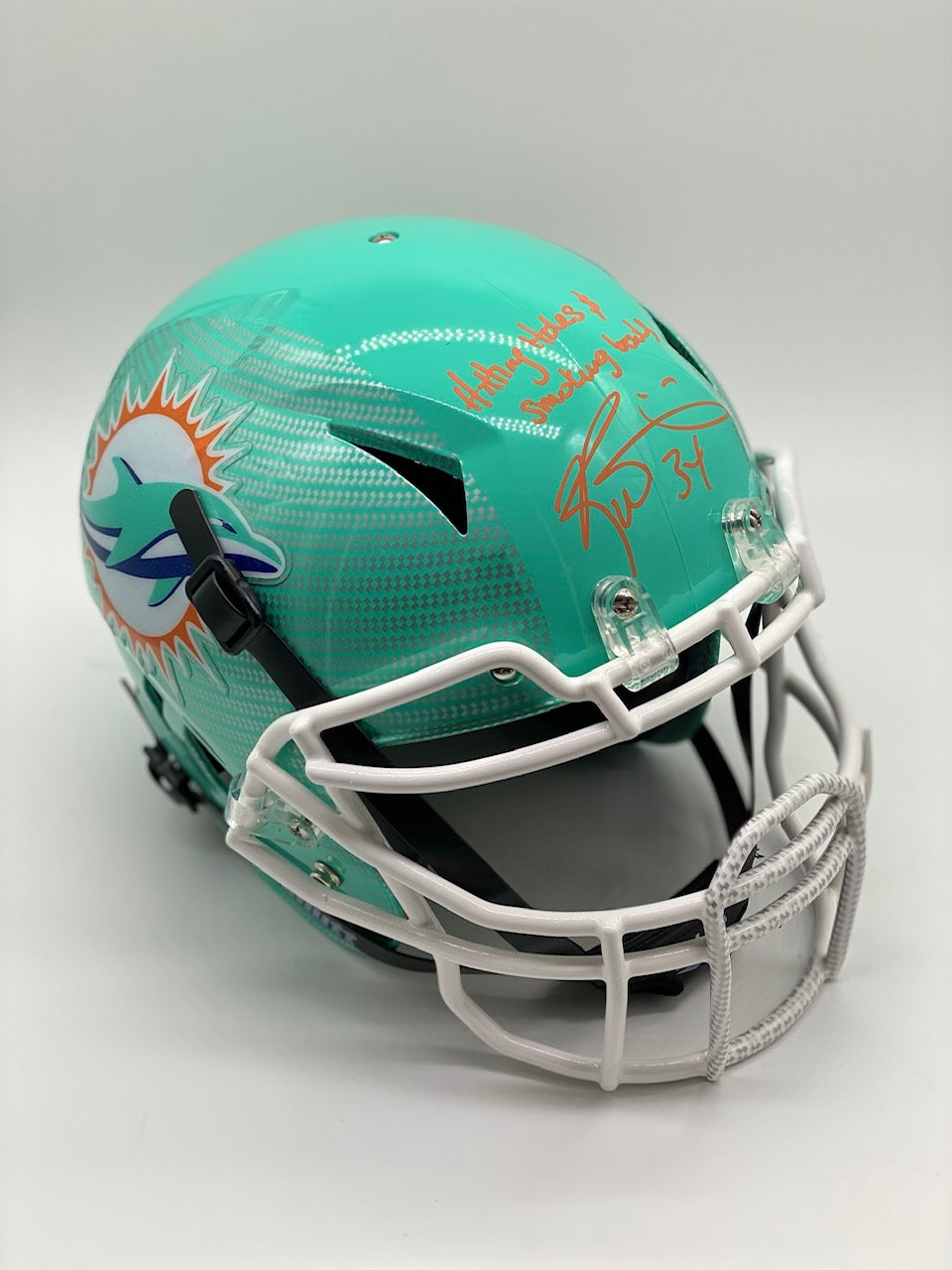 Personalized Hydro Helmet - Teal Carbon Fiber