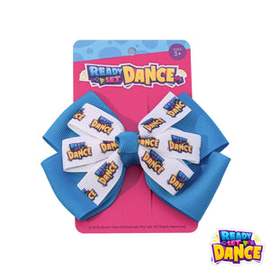 READY SET DANCE Hair Bows - BLUE