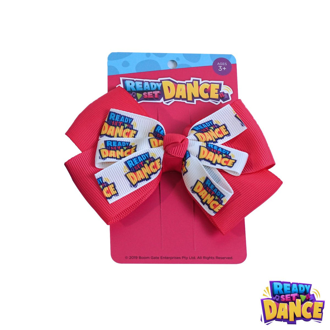 READY SET DANCE Hair Bows - PINK