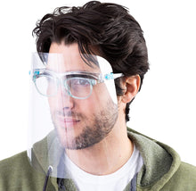 Load image into Gallery viewer, Protective Face Shield, Fully Transparent Face and Eye Protection - 100-Pack