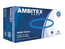 Load image into Gallery viewer, Ambitex N5201 Disposable Nitrile Gloves, Powder Free, Large, 100/Box - 1 Pack