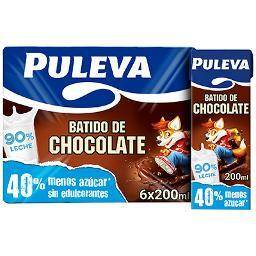 Batido de Chocolate PULEVA – Pack 6 bricks de 200ml - A Spanish Bite