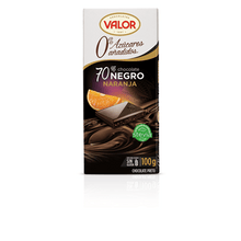 Load image into Gallery viewer, Chocolate Negro 70% con naranja sin azúcar VALOR - A Spanish Bite