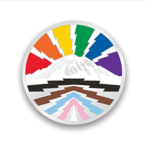 The Mountain is Out! - Pride Pin