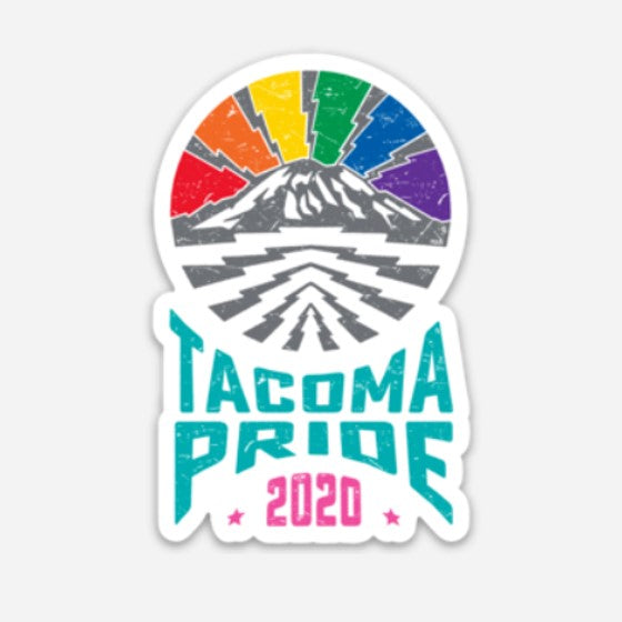 The Mountain is Out! - Tacoma Pride 2020 Sticker