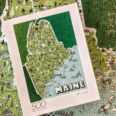 Brainstorm Puzzle Co. State of Maine jigsaw puzzle