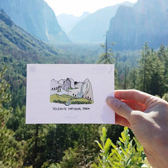 Brainstorm Yosemite National Park illustration in Yosemite Valley