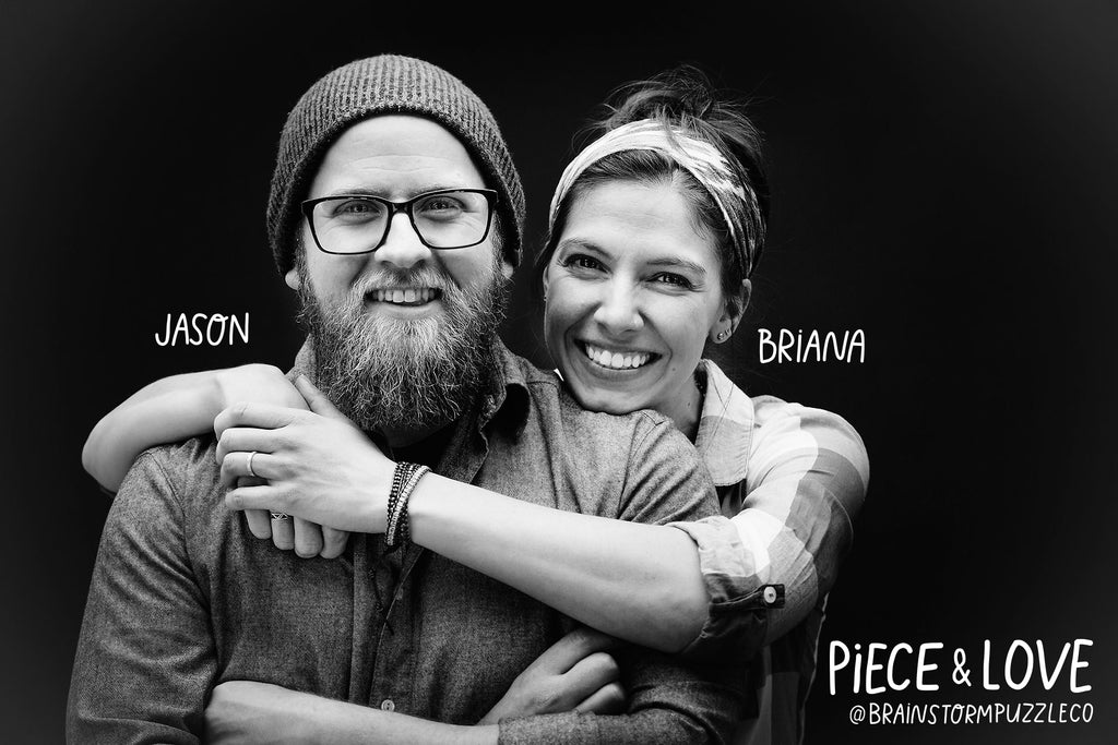 Owners and Artists - Briana and Jason of Brainstorm Puzzle Co.