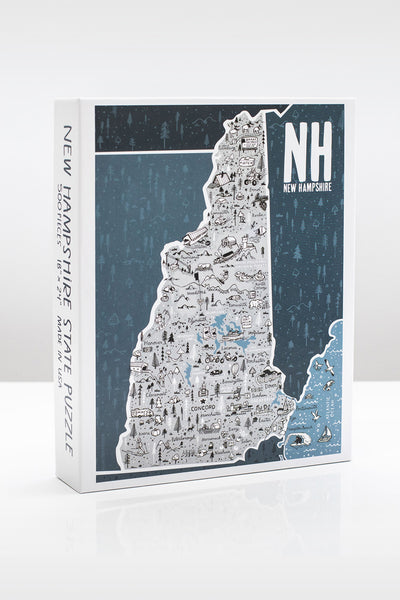 State of New Hampshire 500 Piece Illustrated Jigsaw Puzzle by Brainstorm Puzzle Co.