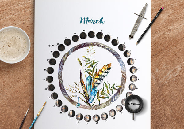 March Moon Calendar Download