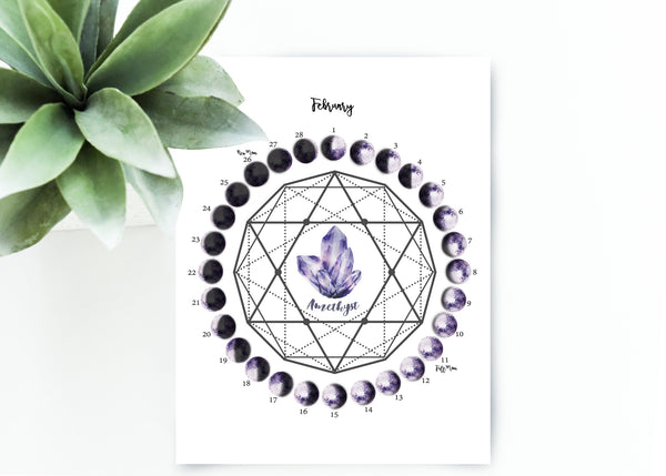 February Moon Calendar Download