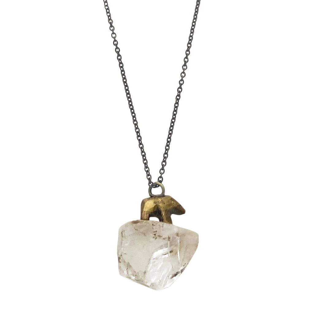 Bear Quartz Totem Necklace