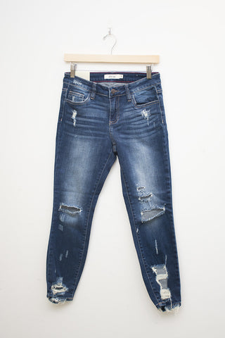 Cello jeans mid rise 5 pocket crop skinny