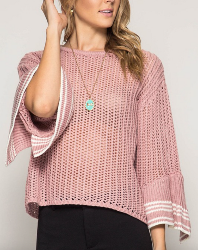 She+sky sweater with bell sleeves