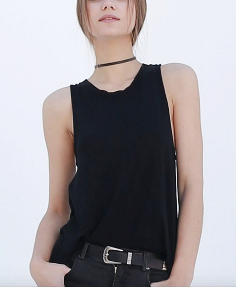 Double Zero sleeveless swing top