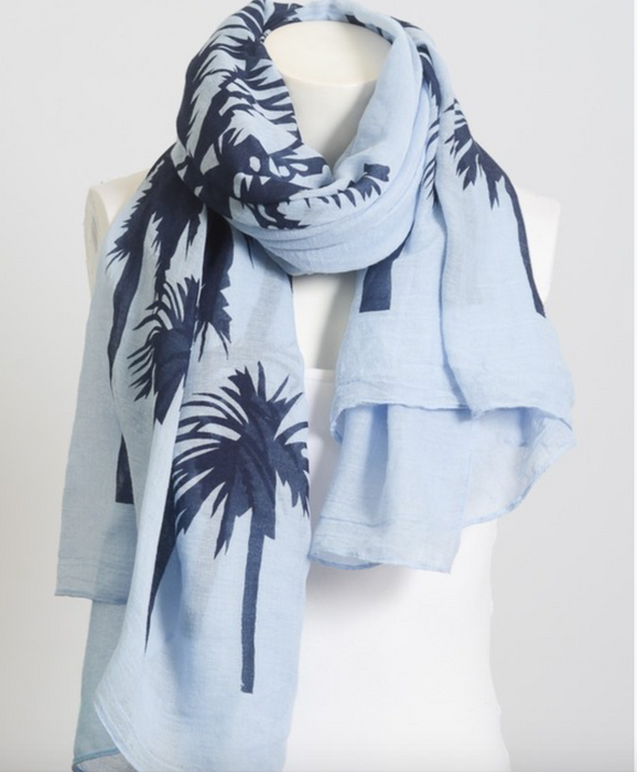 Leto Tropical Palm Tree Scarf