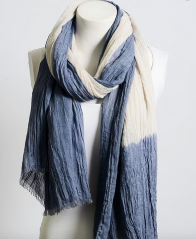 Leto Lightweight Dip-Dyed Scarf