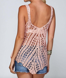 Listicle knit crochet tank top