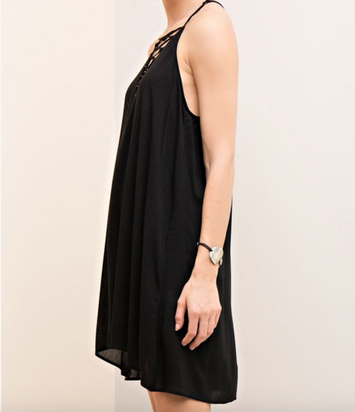 Entro Halter Strappy Neckline Dress