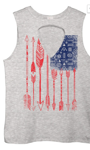 Arden Clothing American Flag Muscle Tee
