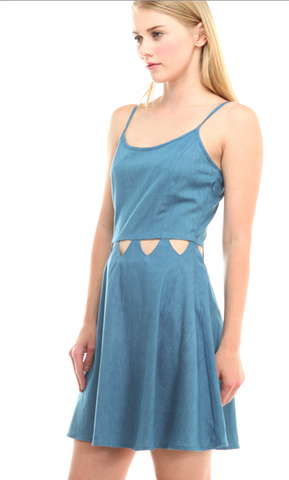 Paper Moon Dress with Waist Slits