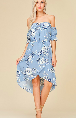 Paper Moon Off Shoulder Floral Dress